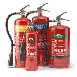 Håndslokkere og brannslanger